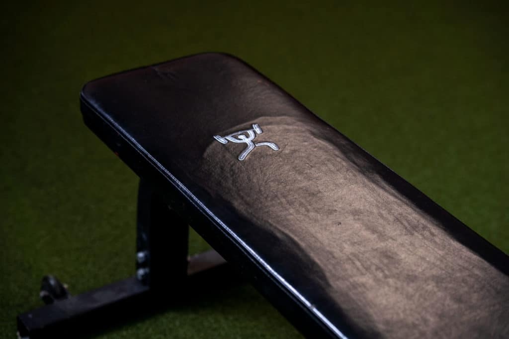 workout bench in a gym
